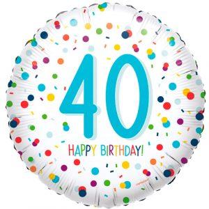 40ste verjaardag ballon confetti