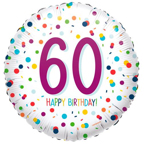 60ste verjaardag ballon confetti