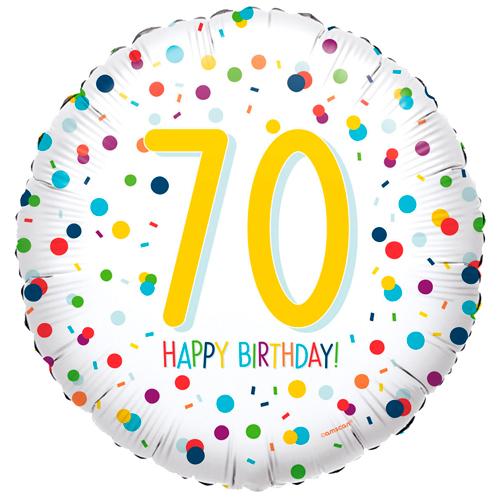 70ste verjaardag ballon confetti