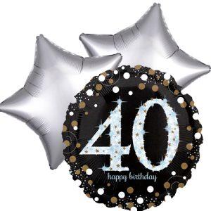 Ballonboeket 40ste verjaardag