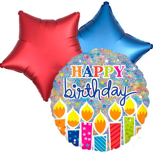Ballonboeket Birthday Candles