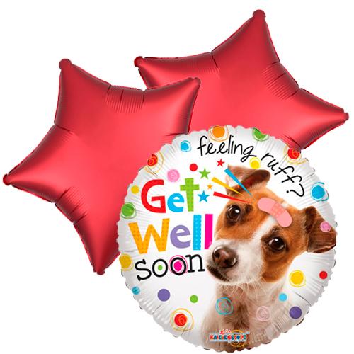 Ballonboeket Get well soon! (Doggy)