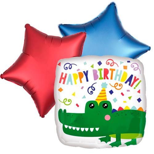 Ballonboeket gator happy birthday