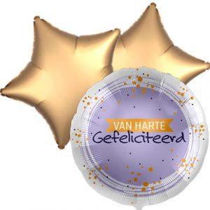 Ballonboeket van harte gefeliciteerd