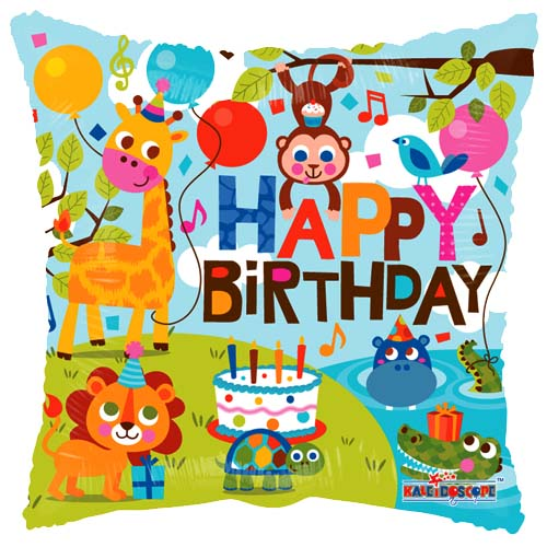 Happy Birthday Jungle ballon