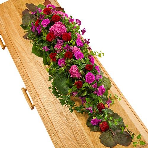 Kistversiering lila-paars en rood
