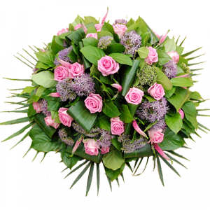 Rouw biedermeier roze lila