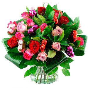 Liefdes boeket mix rozen